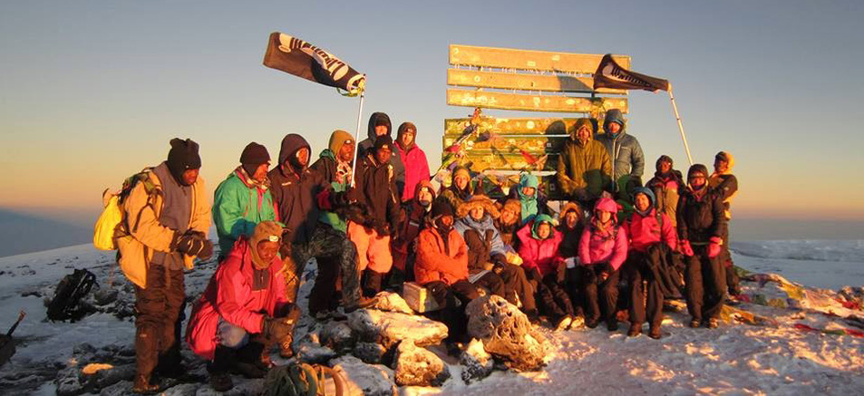 At the Summit of Mt. Kilimanjaro in 2014